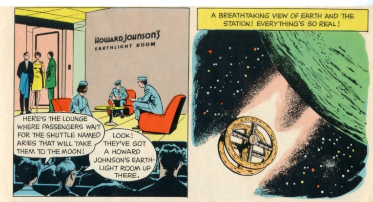 Panel from a 1968 Howard Johnson's children's menu, courtesy of Dreams of Space.