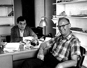Kubrick and Clarke during the writing of 2001. Via Wikipedia.